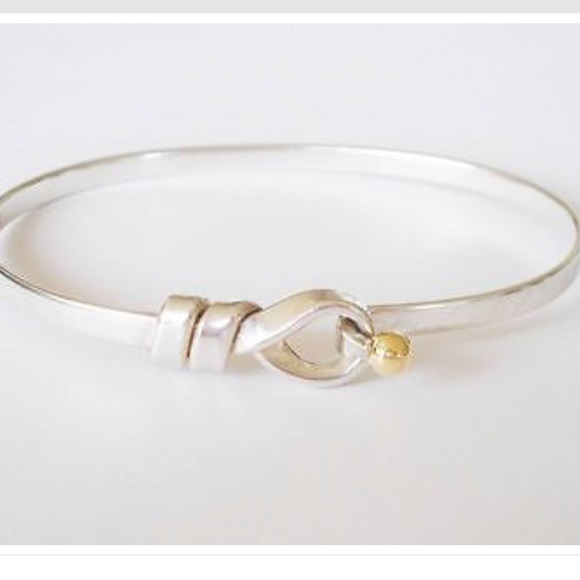 537fff65d Tiffany & Co Sterling Silver 18K Hook Eye Bracelet.  M_5bef0ee40cb5aafbc4742cd8